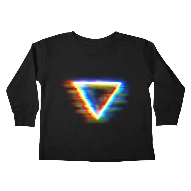 Tri (Digital Distortion) Kids Toddler Longsleeve T-Shirt by Lumi