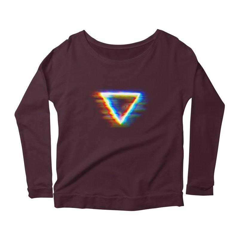 Tri (Digital Distortion) Women's Scoop Neck Longsleeve T-Shirt by Lumi
