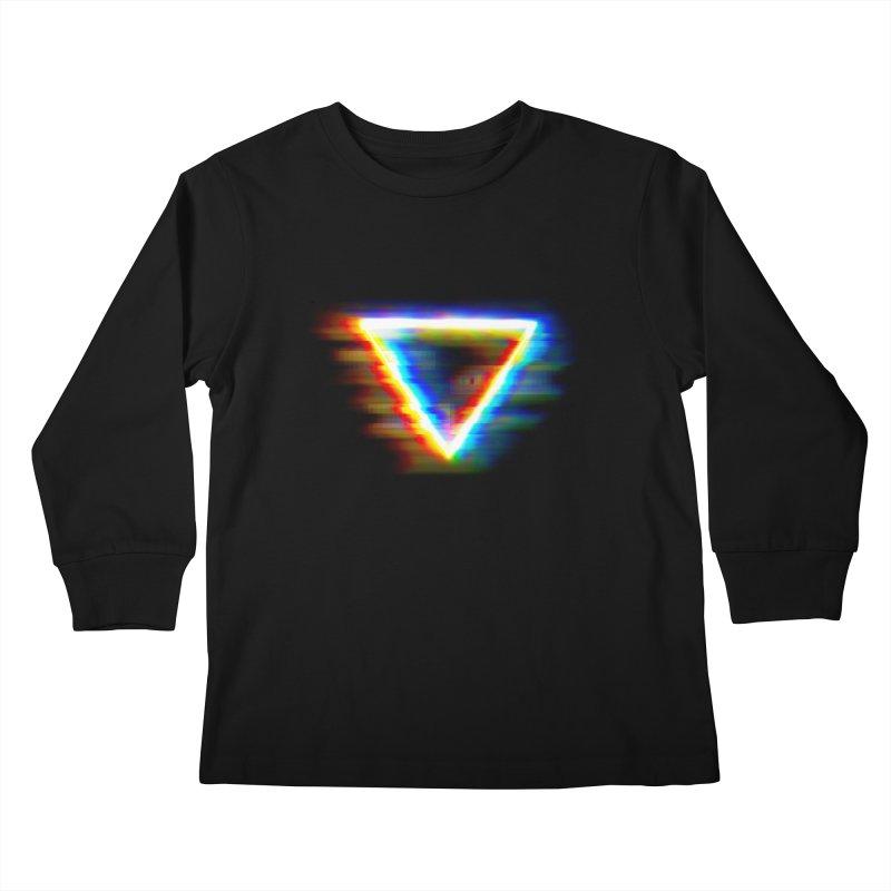 Tri (Digital Distortion) Kids Longsleeve T-Shirt by Lumi