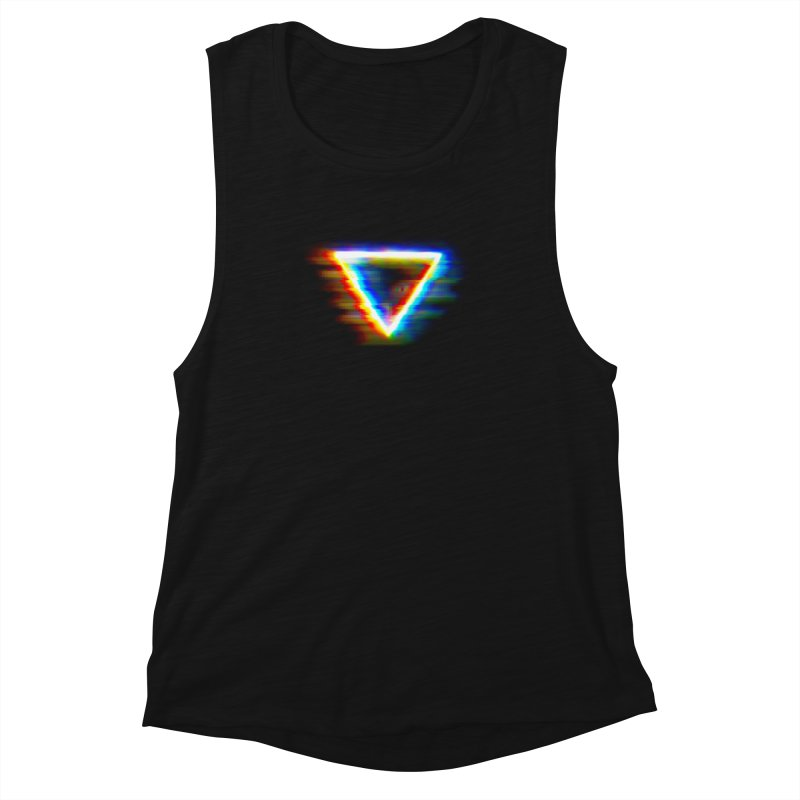 Tri (Digital Distortion) Women's Muscle Tank by Lumi