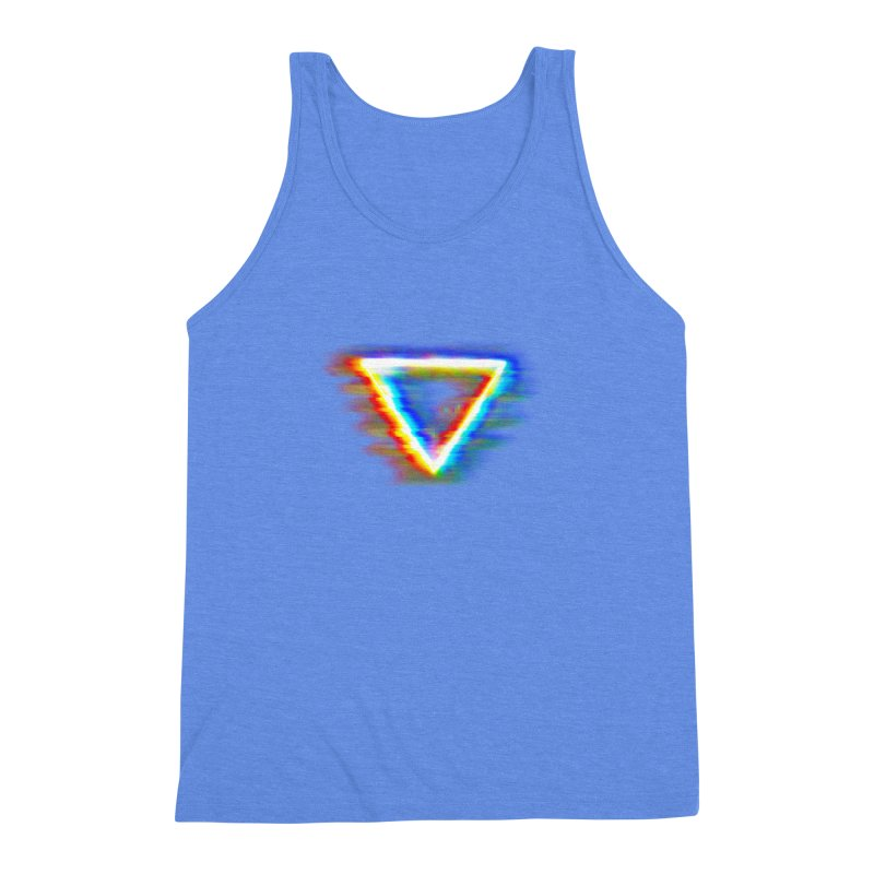 Tri (Digital Distortion) Men's Triblend Tank by Lumi