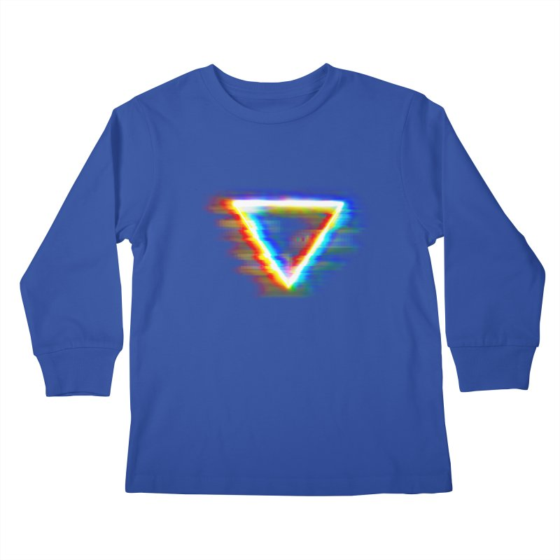 Tri (Digital Distortion) Kids Longsleeve T-Shirt by Lumi