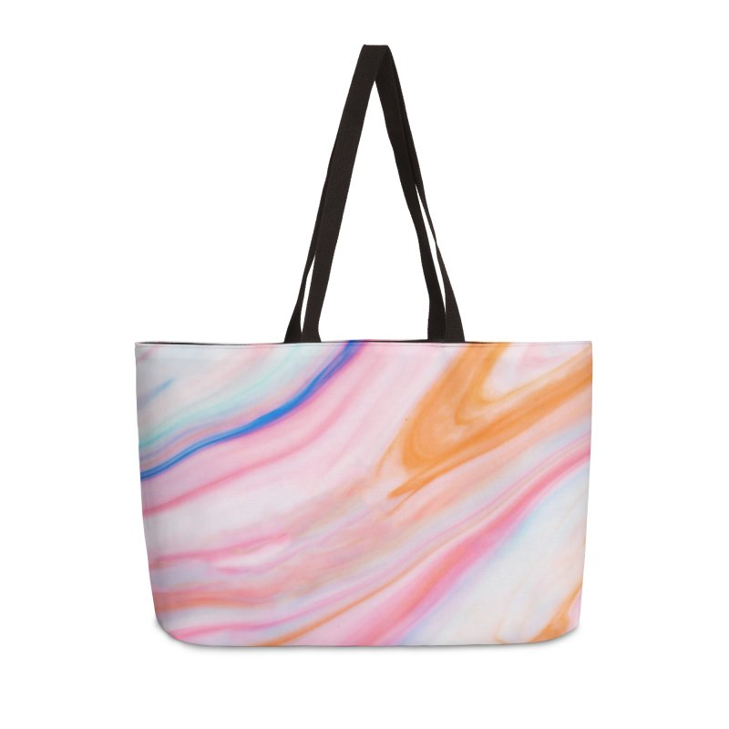 Rainbow Marble Accessories Weekender Bag Bag by Lumi