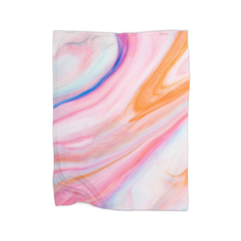 Rainbow Marble Home Blanket by Lumi