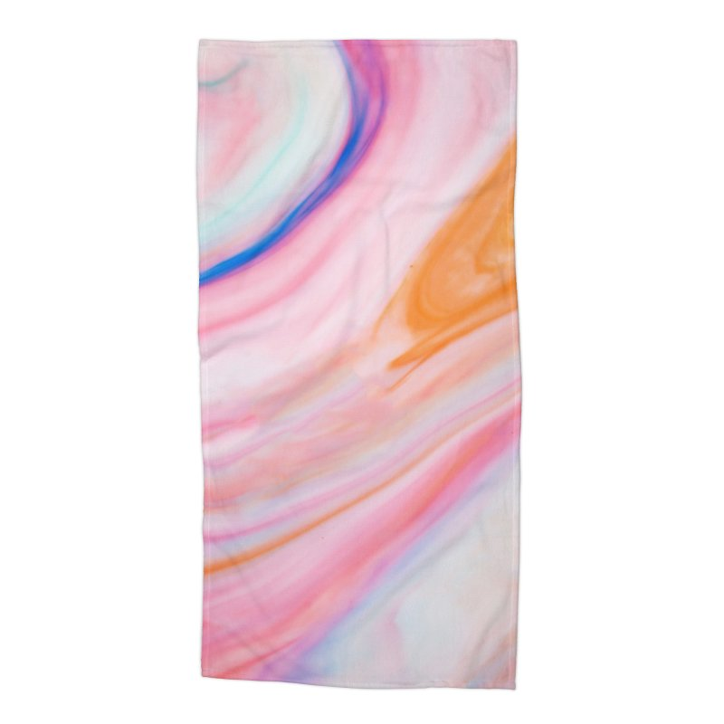 Rainbow Marble Accessories Beach Towel by Lumi