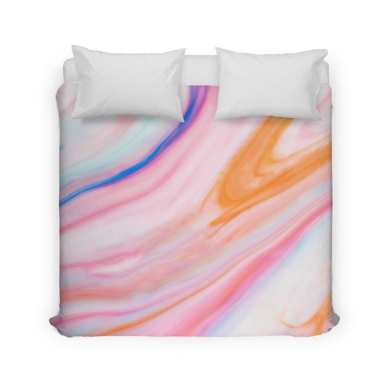 Rainbow Marble Home Duvet by Lumi