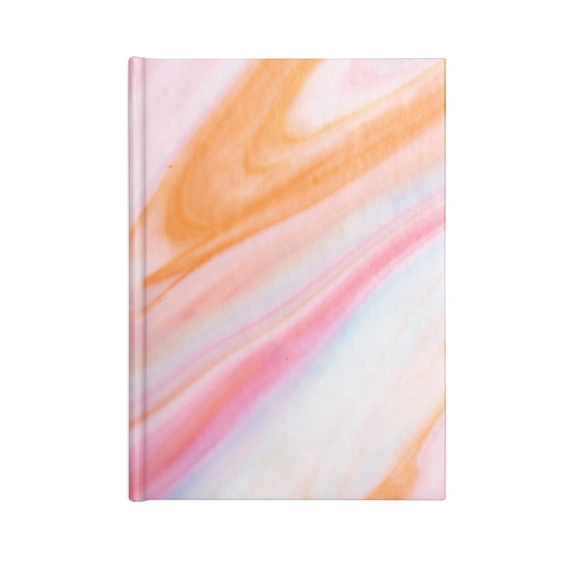 Rainbow Marble Accessories Blank Journal Notebook by Lumi