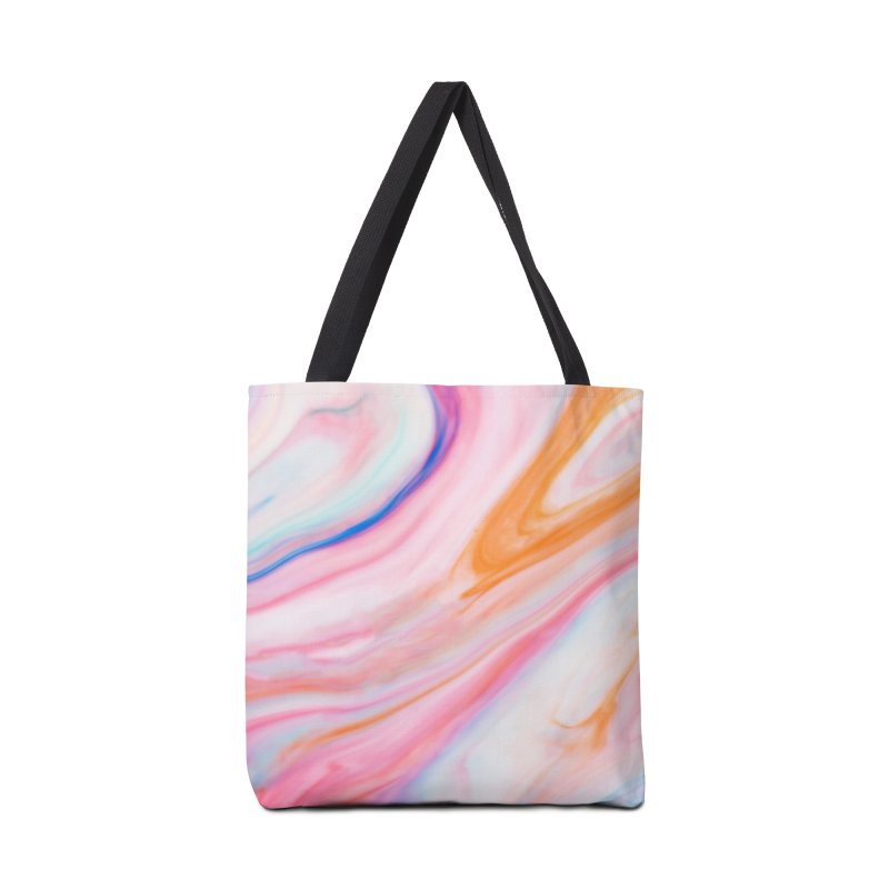 Rainbow Marble Accessories Bag by Lumi