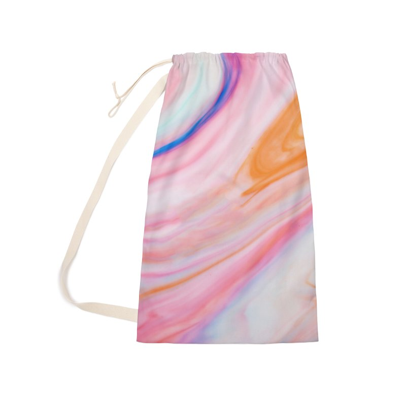 Rainbow Marble Accessories Laundry Bag Bag by Lumi