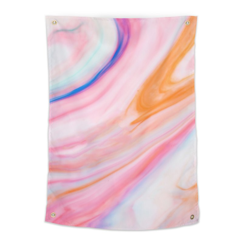 Rainbow Marble Home Tapestry by Lumi