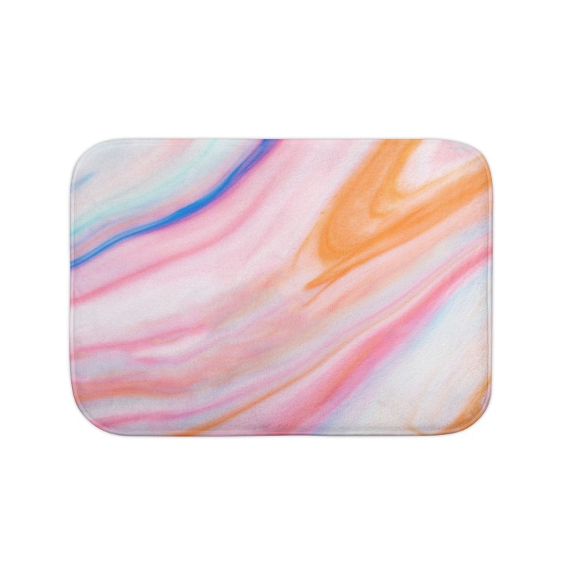 Rainbow Marble Home Bath Mat by Lumi