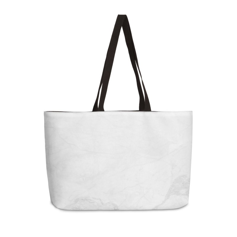 White Marble Accessories Weekender Bag Bag by Lumi