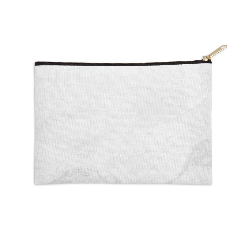 White Marble Accessories Zip Pouch by Lumi