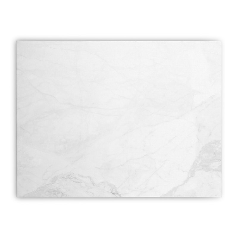 White Marble Home Stretched Canvas by Lumi