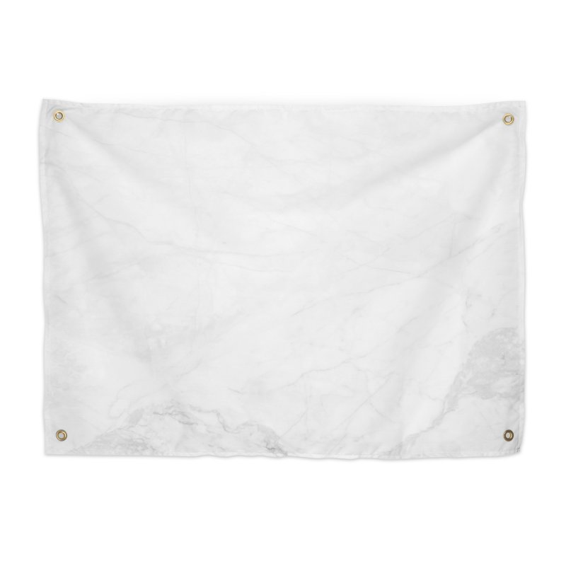 White Marble Home Tapestry by Lumi