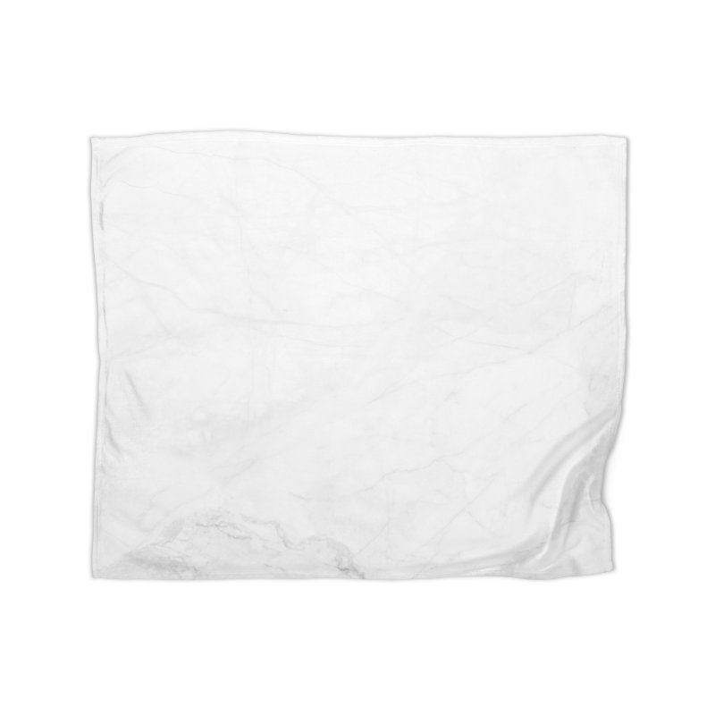 White Marble Home Blanket by Lumi