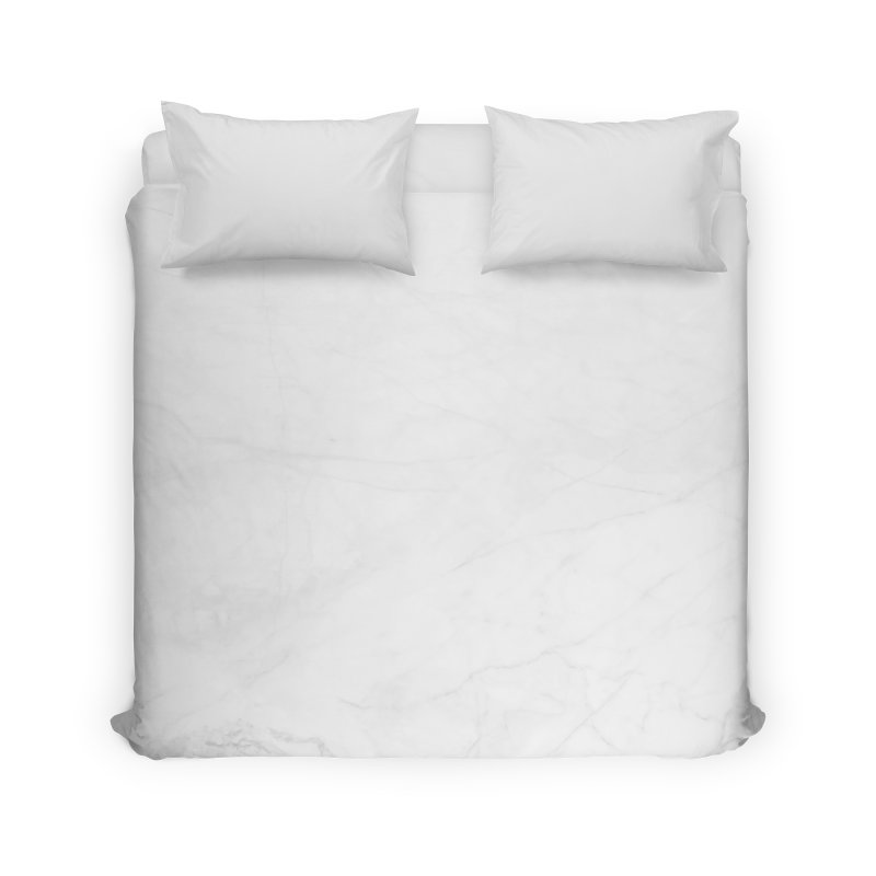 White Marble Home Duvet by Lumi