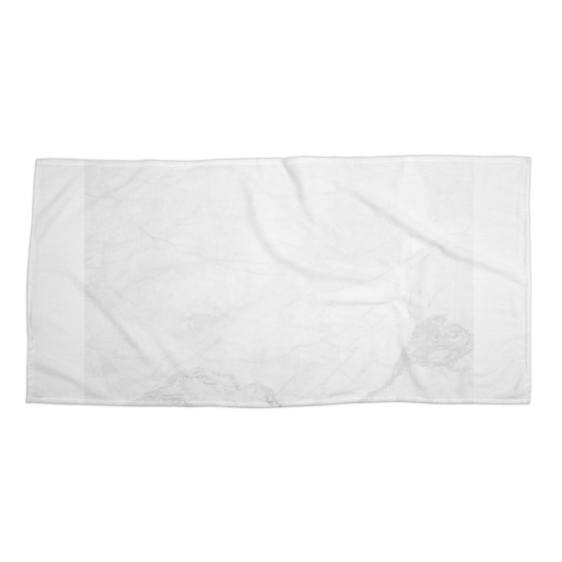 White Marble Accessories Beach Towel by Lumi