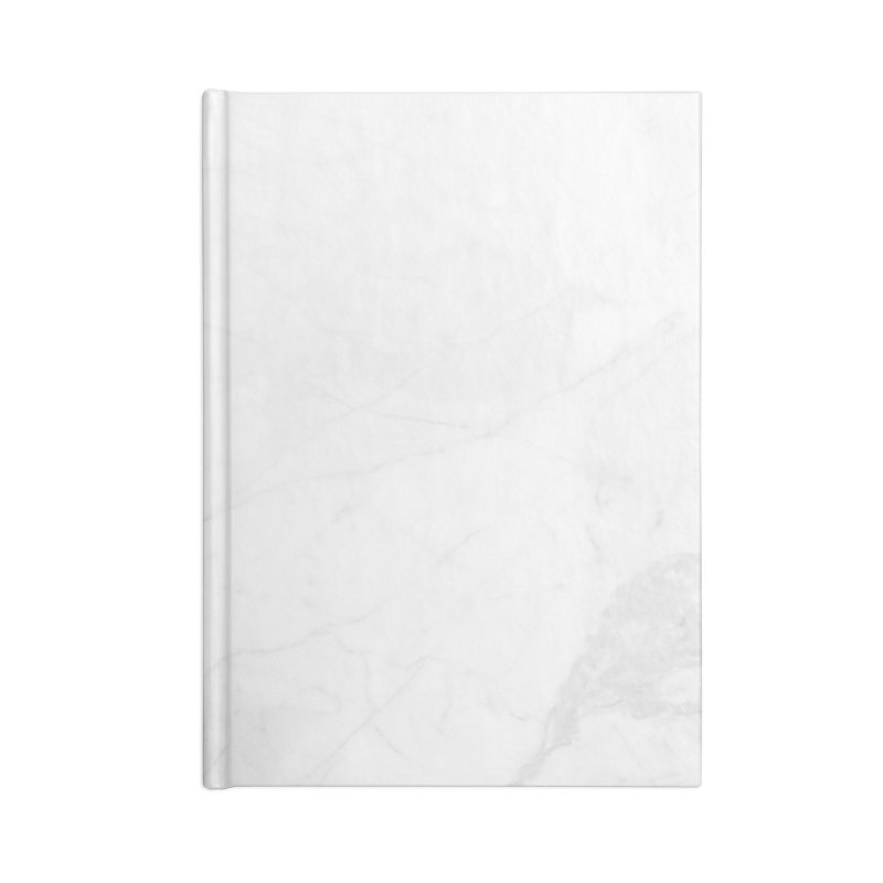 White Marble Accessories Lined Journal Notebook by Lumi
