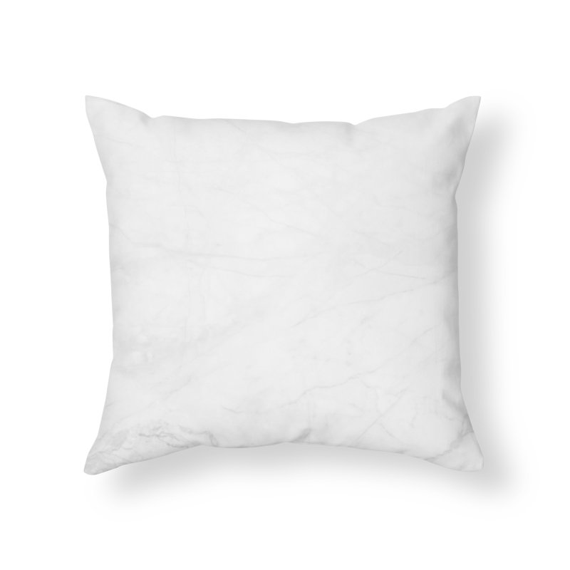 White Marble Home Throw Pillow by Lumi