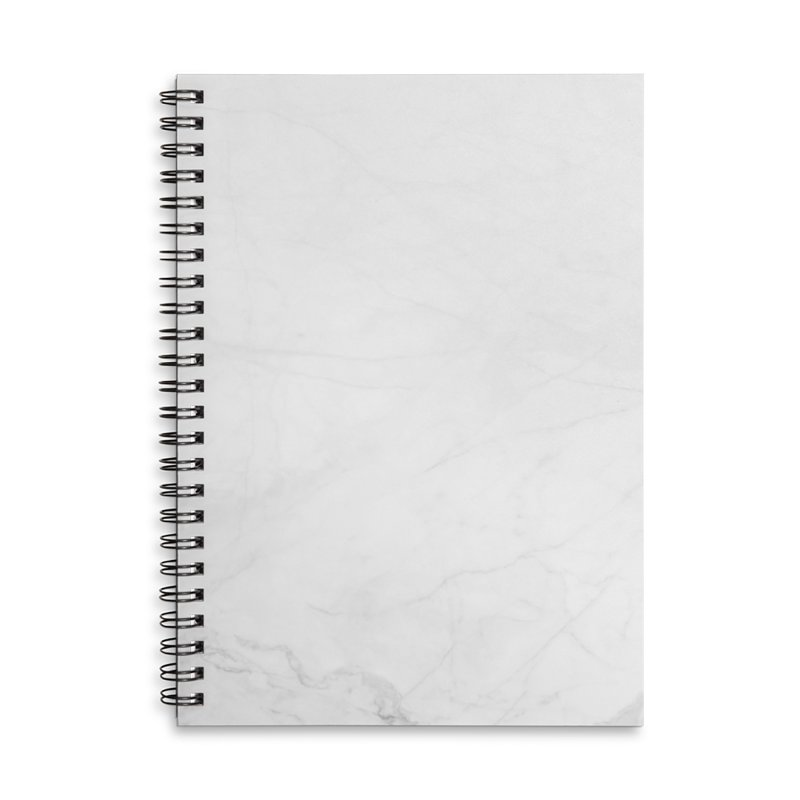 White Marble Accessories Lined Spiral Notebook by Lumi