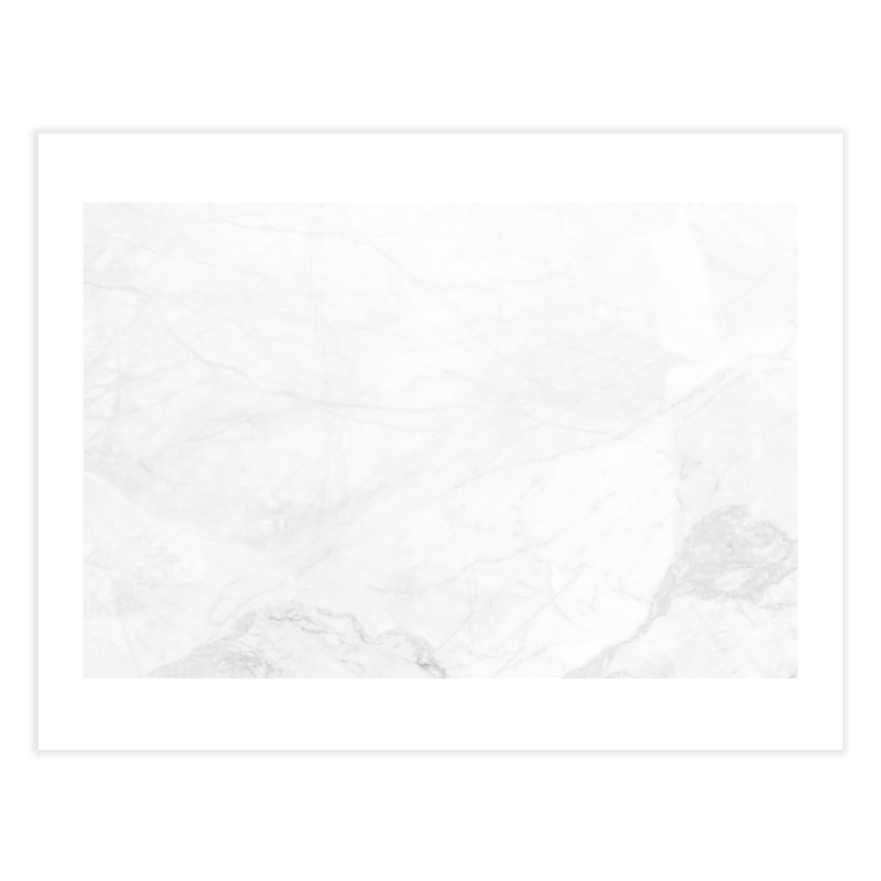 White Marble Home Fine Art Print by Lumi