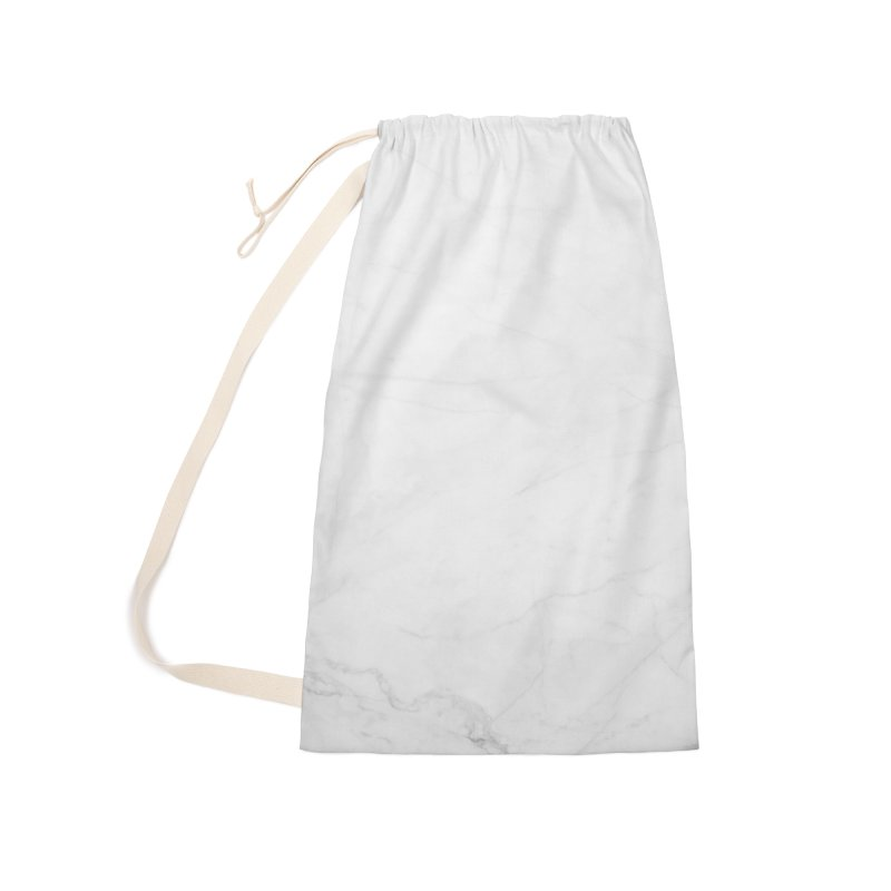 White Marble Accessories Laundry Bag Bag by Lumi