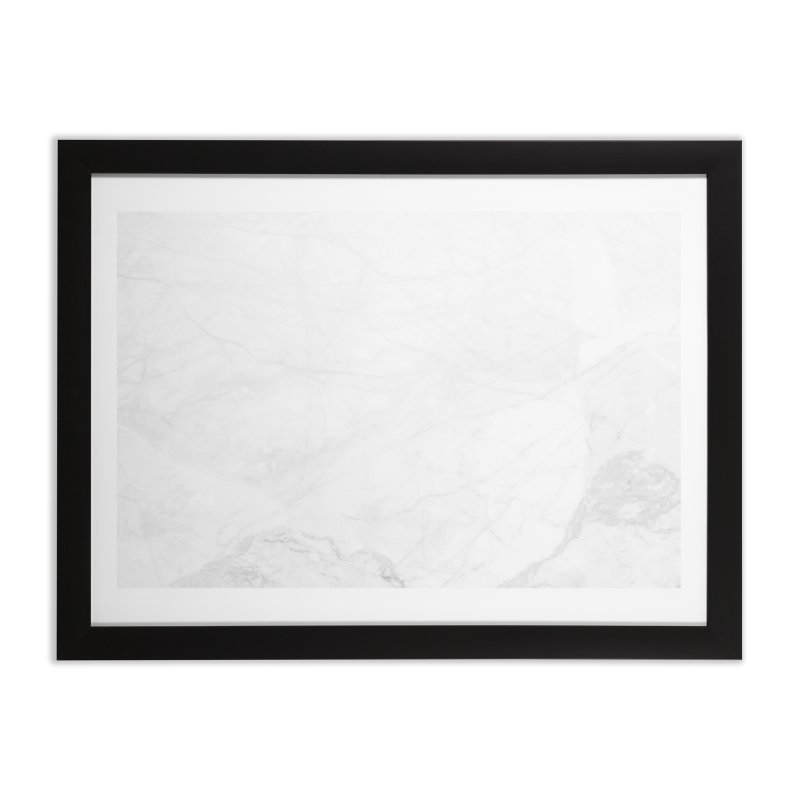White Marble Home Framed Fine Art Print by Lumi