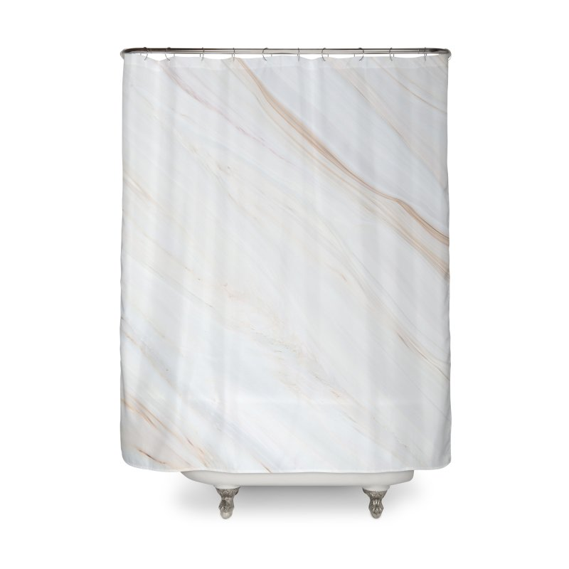 Saturn's Rings Marble Home Shower Curtain by Lumi