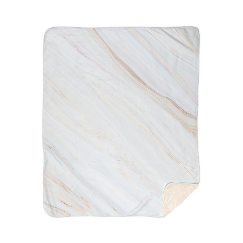 Saturn's Rings Marble Home Sherpa Blanket Blanket by Lumi
