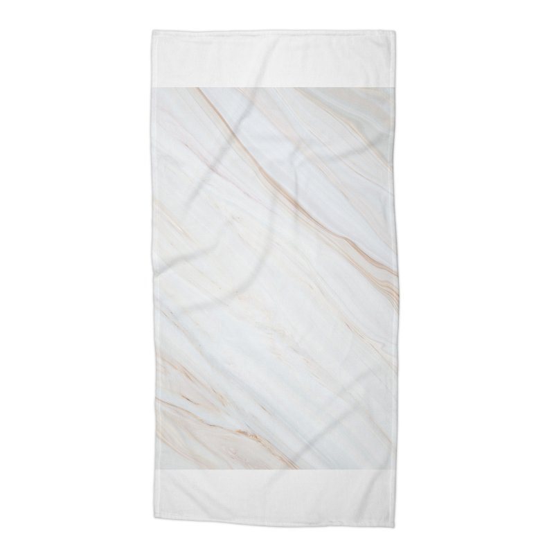 Saturn's Rings Marble Accessories Beach Towel by Lumi