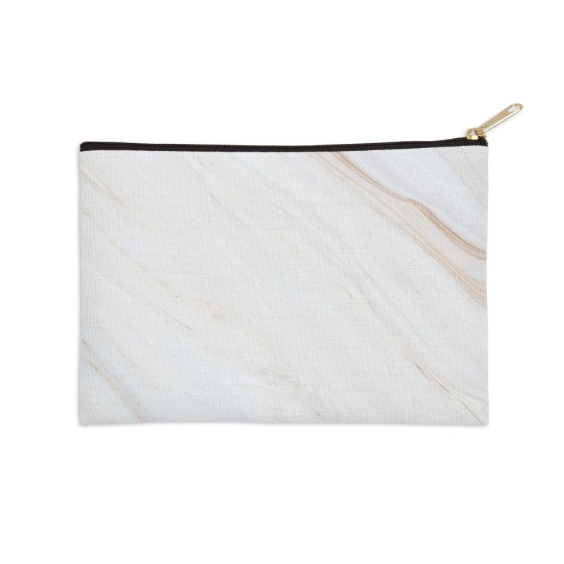 Saturn's Rings Marble Accessories Zip Pouch by Lumi