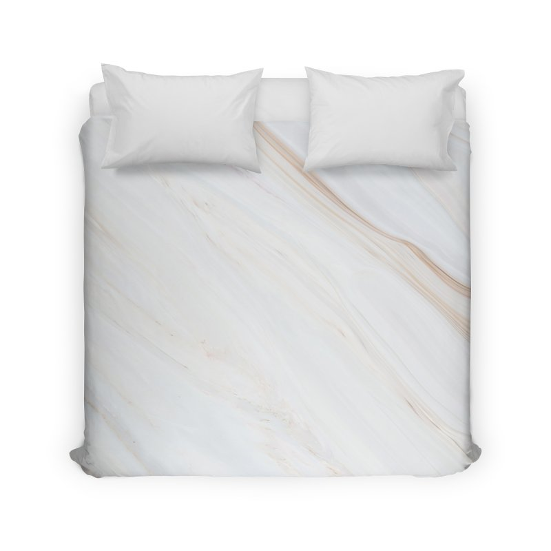 Saturn's Rings Marble Home Duvet by Lumi