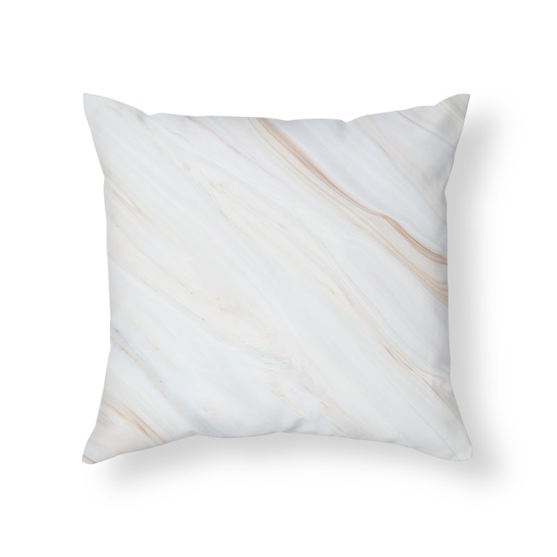 Saturn's Rings Marble Home Throw Pillow by Lumi