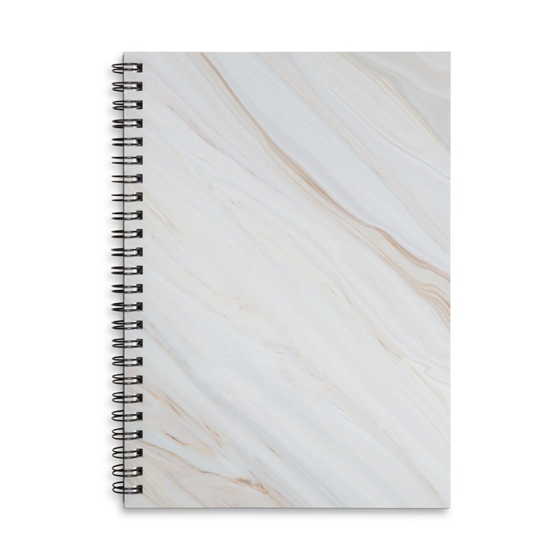Saturn's Rings Marble Accessories Lined Spiral Notebook by Lumi