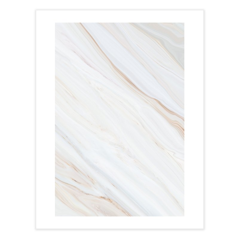 Saturn's Rings Marble Home Fine Art Print by Lumi