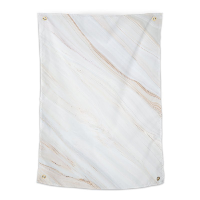 Saturn's Rings Marble Home Tapestry by Lumi
