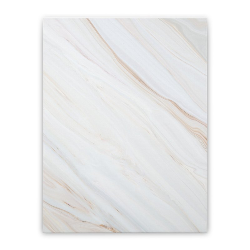 Saturn's Rings Marble Home Stretched Canvas by Lumi