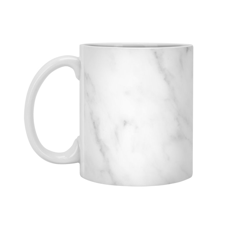 White Grey Marble Accessories Standard Mug by Lumi