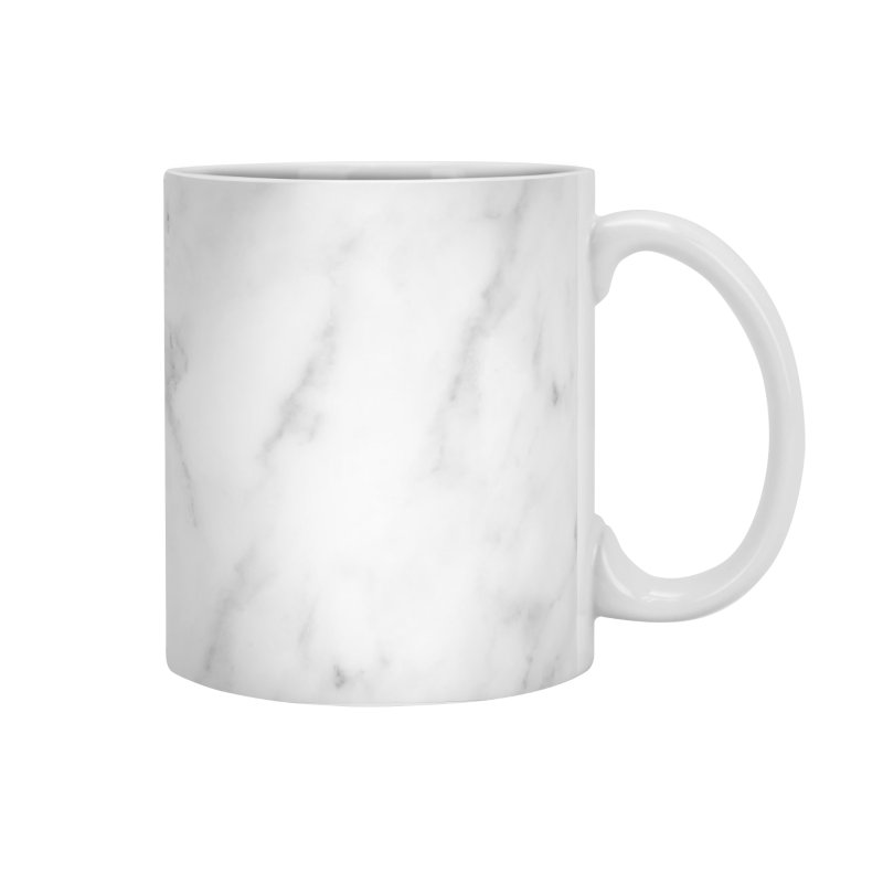 White Grey Marble Accessories Mug by Lumi