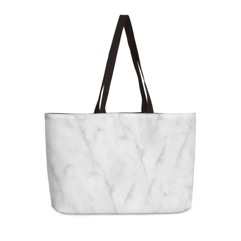 White Grey Marble Accessories Weekender Bag Bag by Lumi