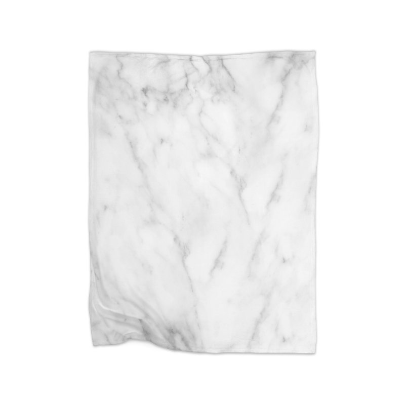 White Grey Marble Home Blanket by Lumi