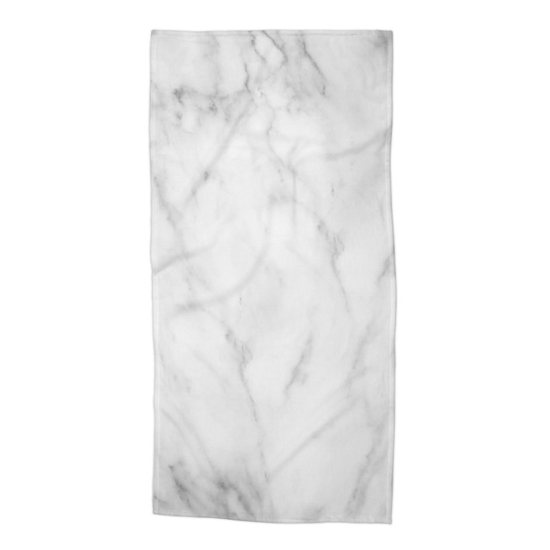 White Grey Marble Accessories Beach Towel by Lumi