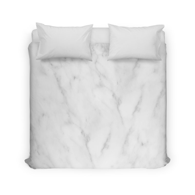 White Grey Marble Home Duvet by Lumi