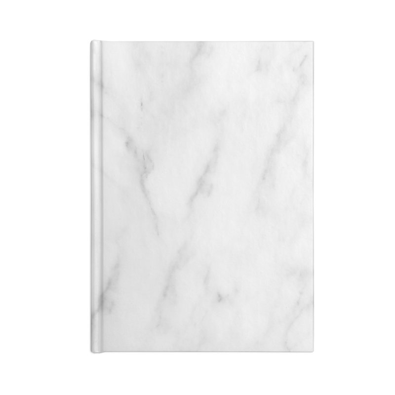 White Grey Marble Accessories Lined Journal Notebook by Lumi