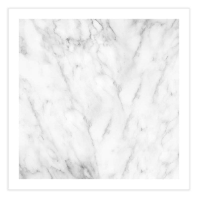 White Grey Marble Home Fine Art Print by Lumi