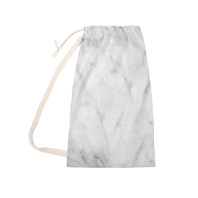 White Grey Marble Accessories Laundry Bag Bag by Lumi