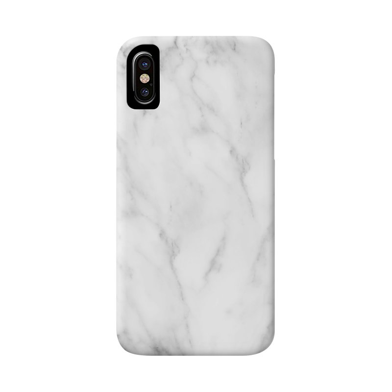 White Grey Marble Accessories Phone Case by Lumi