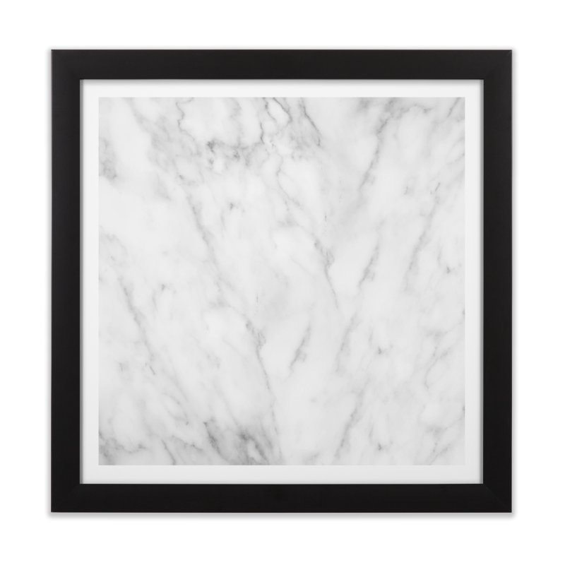 White Grey Marble Home Framed Fine Art Print by Lumi