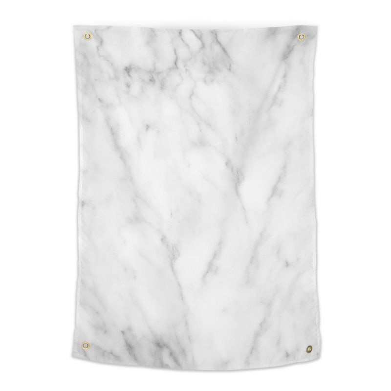 White Grey Marble Home Tapestry by Lumi
